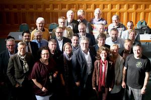 Geschäftsführender Vorstand und Mitglieder des Landesvorstands (© komba gewerkschaft nrw)