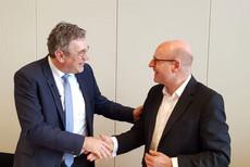 Andreas Hemsing und Markus Lewe. © komba gewerkschaft nrw