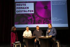 Aktuelle Informationen aus den Fachbereichen gaben (v.k.n.r.) Anusch Melkonyan (Moderation), Valentino Tagliafierro, André Vollmer und Ingo Bings