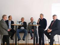 v.l.n.r.: Klaus-Dieter Schulze, Dr. Roland Adelmann, Mario Krüger, Marcus Rümmler, Friedel Frechen, Stefan Czogalla (Foto: © Archiv komba gewerkschaft nrw)