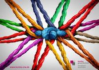 Postkarte der Kommission für Chancengleichheit zum Weltfrauentag und Equal Pay Day (Vorderseite)