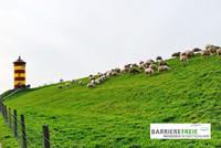 """Bild: © Günther Hommes / pixelio mit Logo der Arbeitsgemeinschaft """"Barrierefreie Reiseziele in Deutschland"""""""
